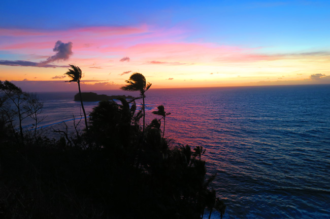 Namua Island Samoa sunrise