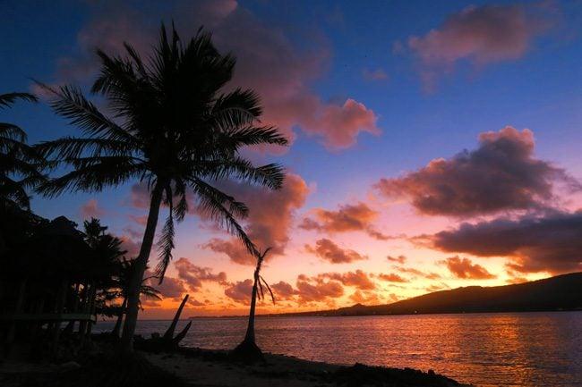 Namua Island Samoa sunset
