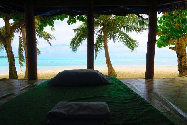 Namua Island Samoa view from beach fale