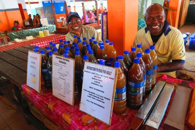 Port Vila market Vanuatu coconut juice