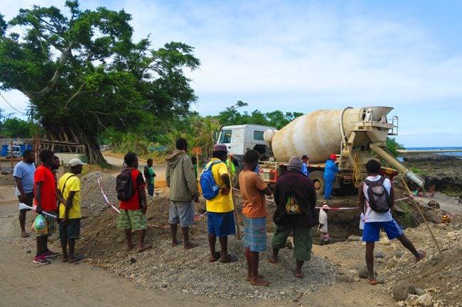 Road building in Tanna Island Vanuatu