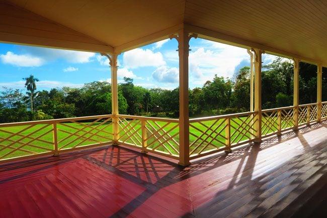 Robert Louis Stevenson Museum Apia Samoa veranda