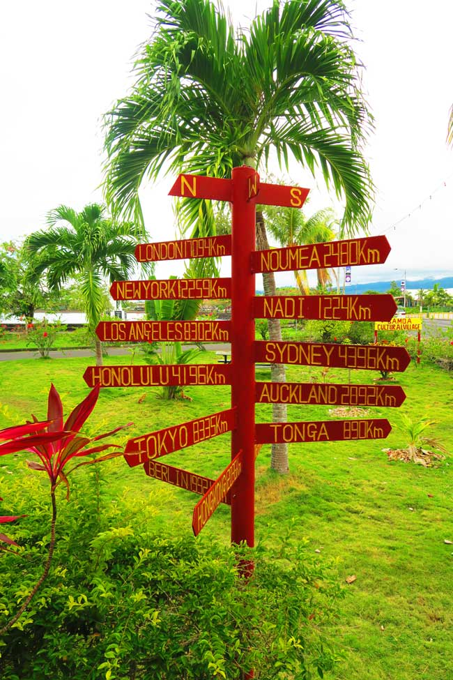 Samoa distances from home
