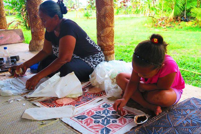 Samoan Cultural Village Apia making siap