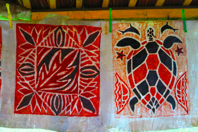 Samoan Cultural Village Apia traditional siap art