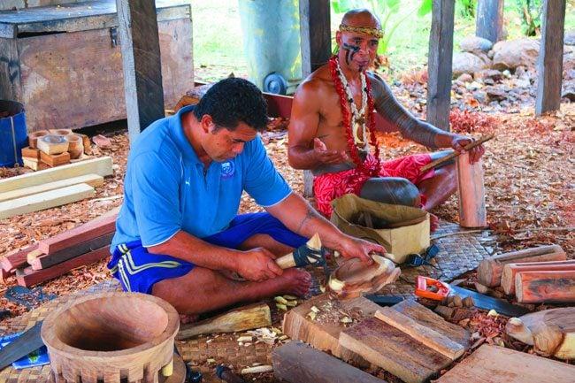 Samoan Cultural Village Apia wood carving
