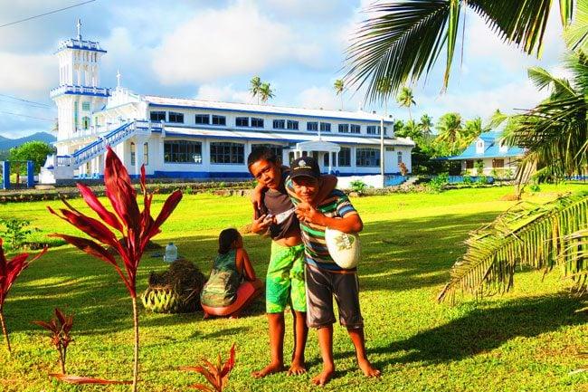 Savaia children playing