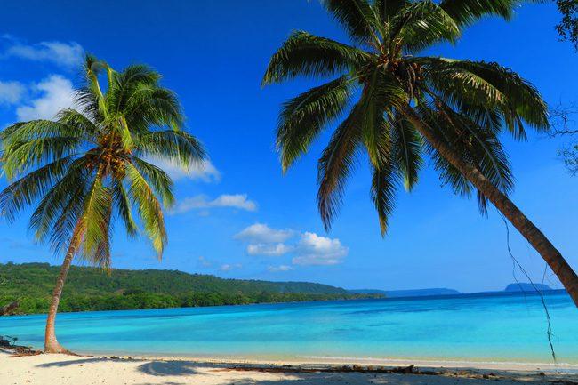 South Pacific Tropical Beach Lonnoc Vanuatu