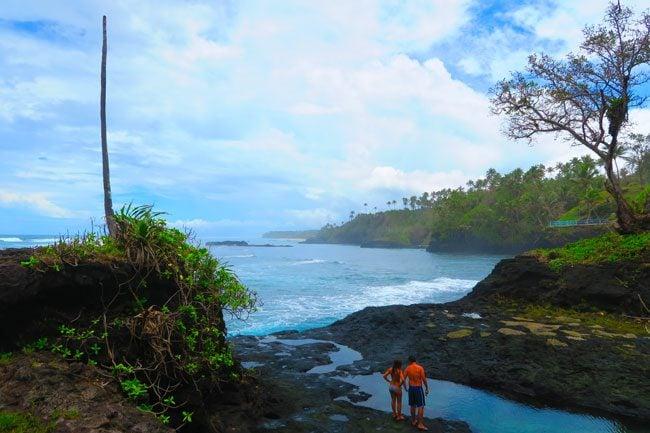 Tu Sua Ocean Trench Samoa beach