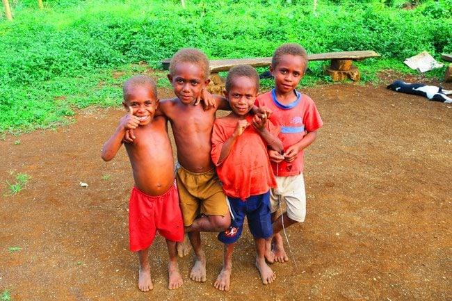 Vanuatu Children Espiritu Santo
