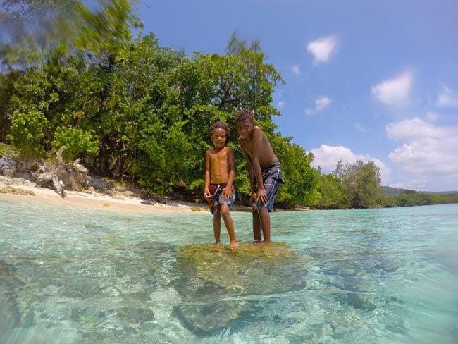 Vanuatu Children Tropical Beach Lonnoc