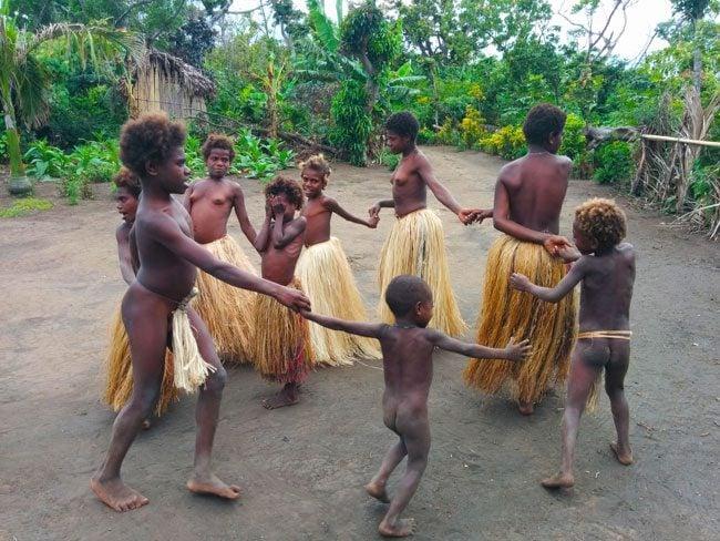 Yakel Tribe Tanna Island Vanuatu Children playing