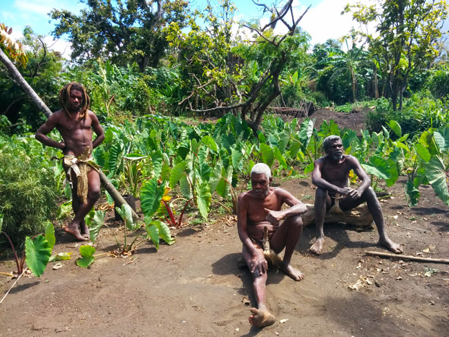 Yakel Tribe Tanna Island Vanuatu Men