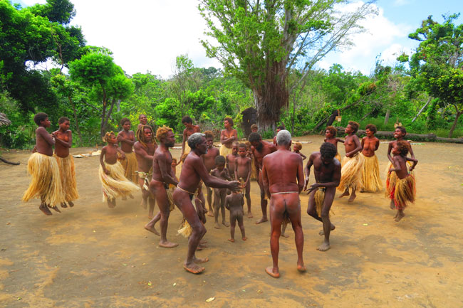 Yakel Tribe Tanna Island Vanuatu Traditional Tribal Dance