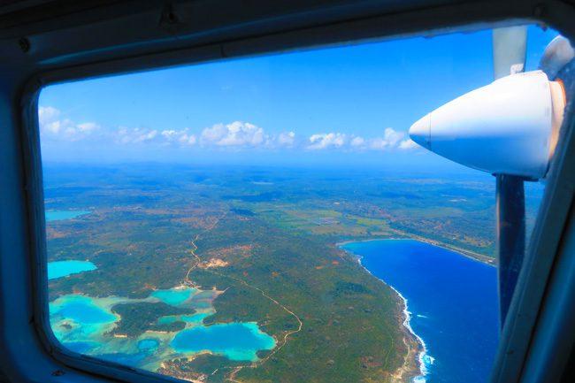 vanuatu aerial view from eight seater plane