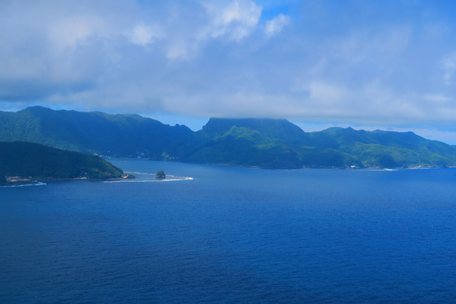 Aerial view of Pago Pago American Samoa