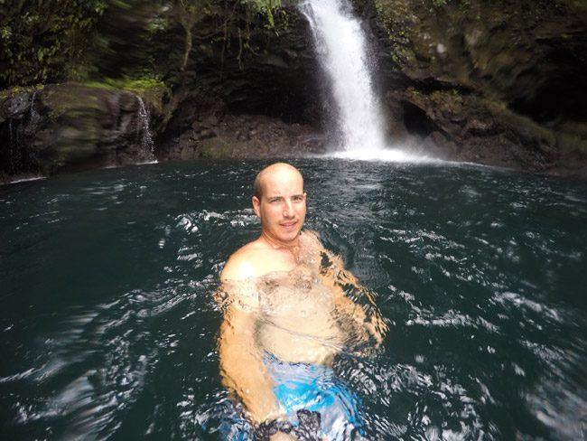 Afu Aau Waterfall Savaii Samoa selfie
