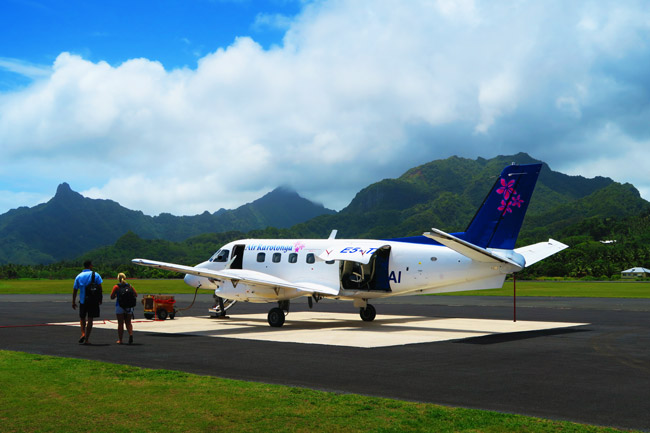 Air Rarotonga flight to Aitutaki Cook Islands