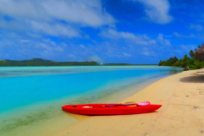 Aitutaki Lagoon Inano Beach Bungalows Cook Islands