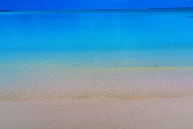 Akaiami Island Aitutaki Lagoon water color