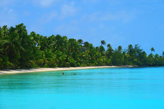Akaiami Island Aitutaki lagoon Cook Islands