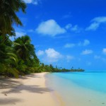 Akaiami Island tropical Beach Aitutaki Cook Islands