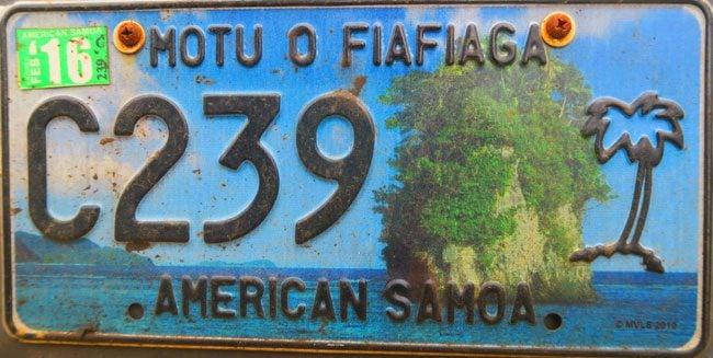 American Samoa license plate