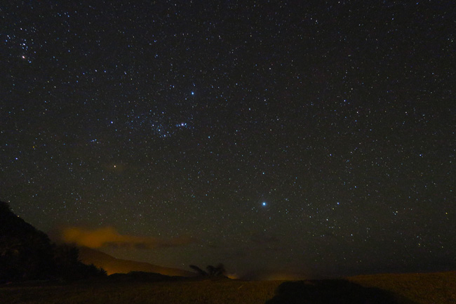 Beautiful nigh sky from Ofu Island American Samoa