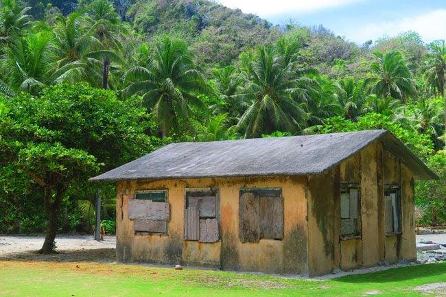 Boarded up shack in Ofu Island American Samoa