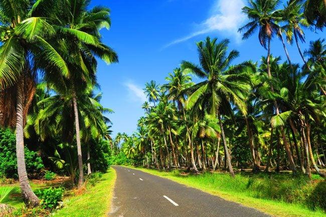 Driving in Aitutaki Cook Islands