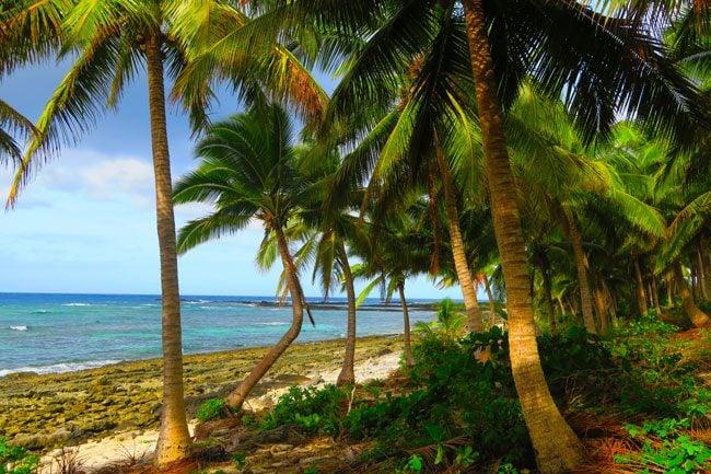 Falealupo Village Savaii Samoa beach