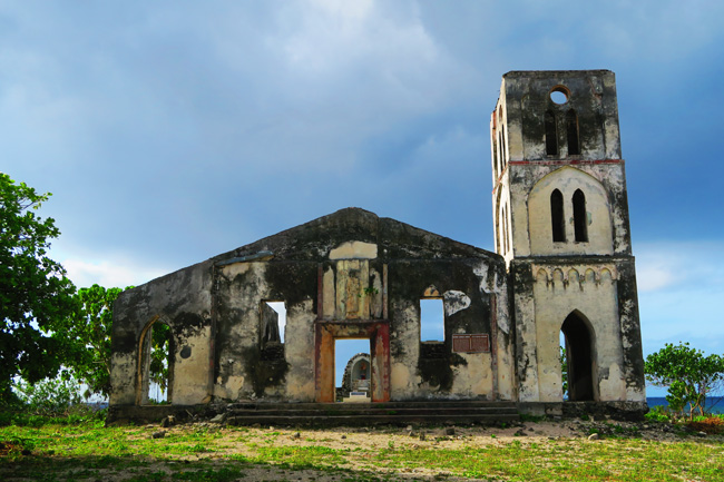 Falealupo Village Savaii Samoa catholic church destroyed in cyclone