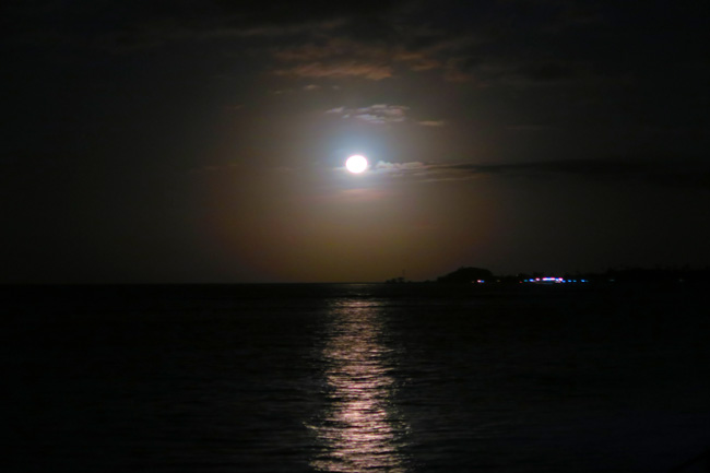 Full Moon manase Savaii tanu beach fales
