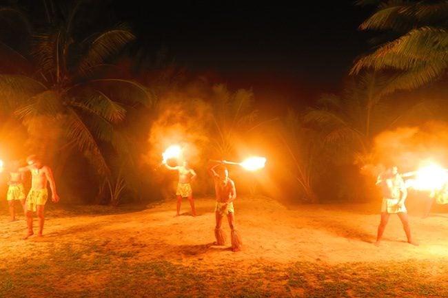 Island Night in Aitutaki Tamanu Beach Polynesian fire show 1