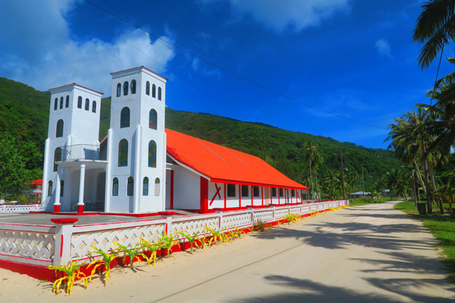 Main church in Ofu Village American Samoa