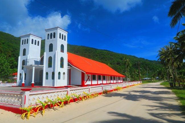 Main church in Ofu Village American Samoa