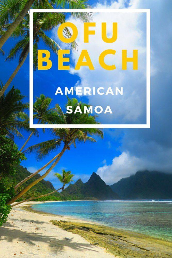Ofu Beach Amercian Samoa - Pin with text