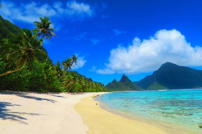 Ofu Tropical Beach in American Samoa