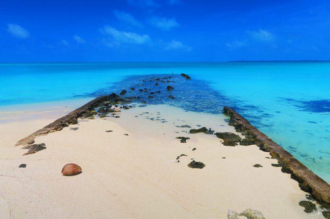Old TEAL jetty in Akaiami Island Aitutaki
