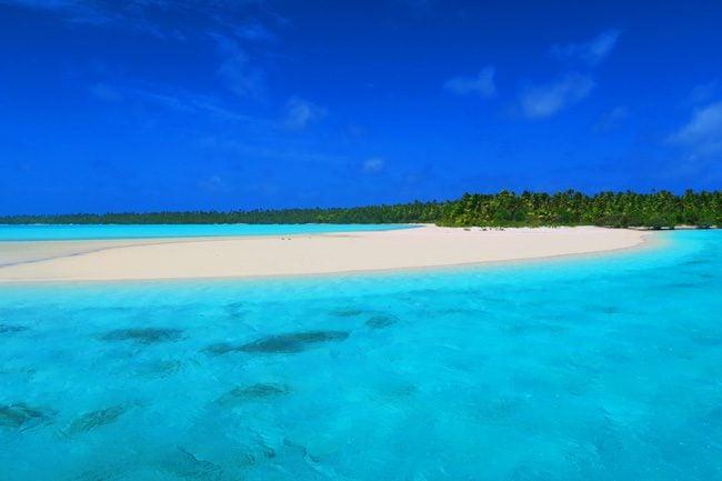 One Foot Island Aitutaki lagoon Cook Islands sand dune