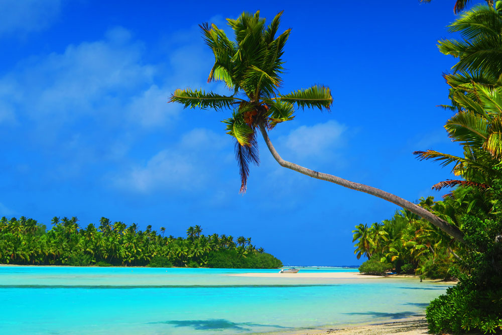 One foot island aitutaki lagoon cook islands best tropical beach