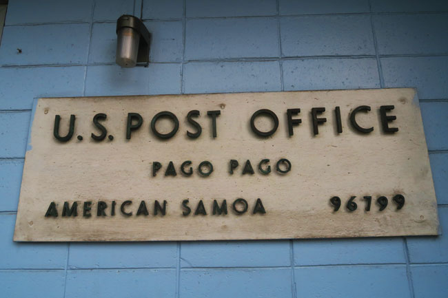 Pago Pago US post office American Samoa