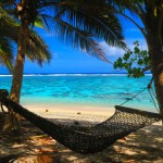 Relaxing on hammock at Ofu Beach American Samoa