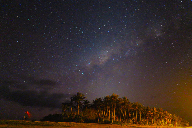 Shot of Milky Way from Ofu American Samoa