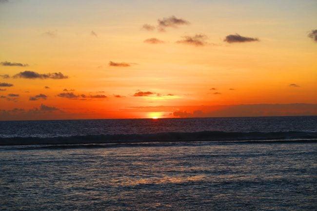 Sunset in Ofu Island American Samoa