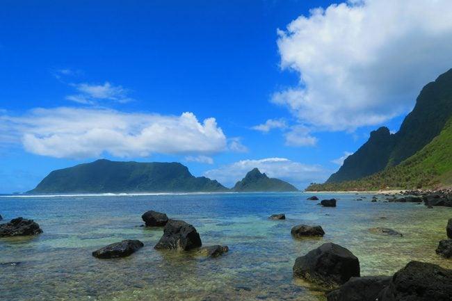 View of Ofu from Olosega American Samoa