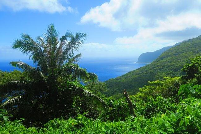 View of Sili from Mount Tumu - Ofu Island American Samoa