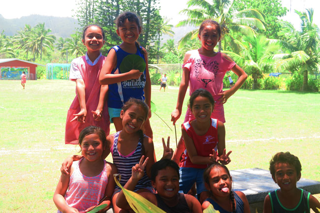 Children of the Cook Islands in Rarotonga school