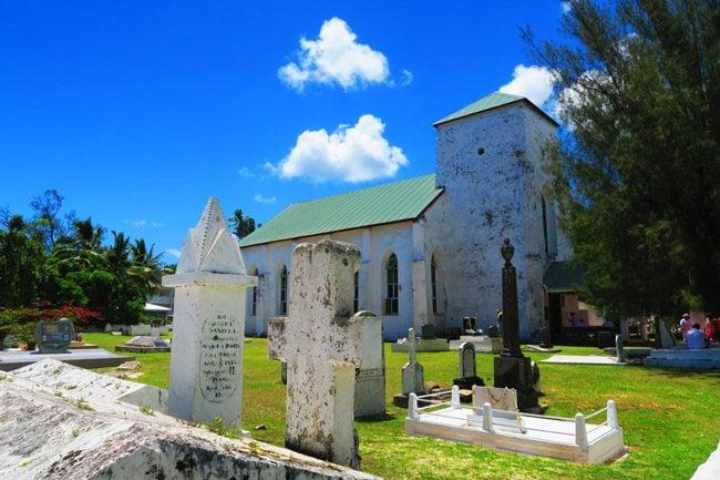 Church in Rarotonga Cook Islands Avarua Catholic Church exterior