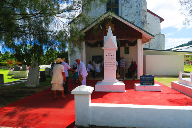 Church in Rarotonga Cook Islands Avarua Catholic Church greeting